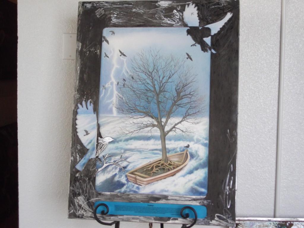 Traveling I - sculpture/poem collaboration with James Hendricks